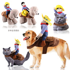 Dog Clothes Cat Pet Clothes Supplies Autumn Winter Halloween funny horse Costume Small Medium big dogs