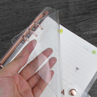notebook clear pvc soft cover loose leaf organizer transparent planner a5 6 rings binder