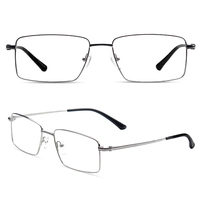 man spectacle full-rim titanium pure titanium glasses frame