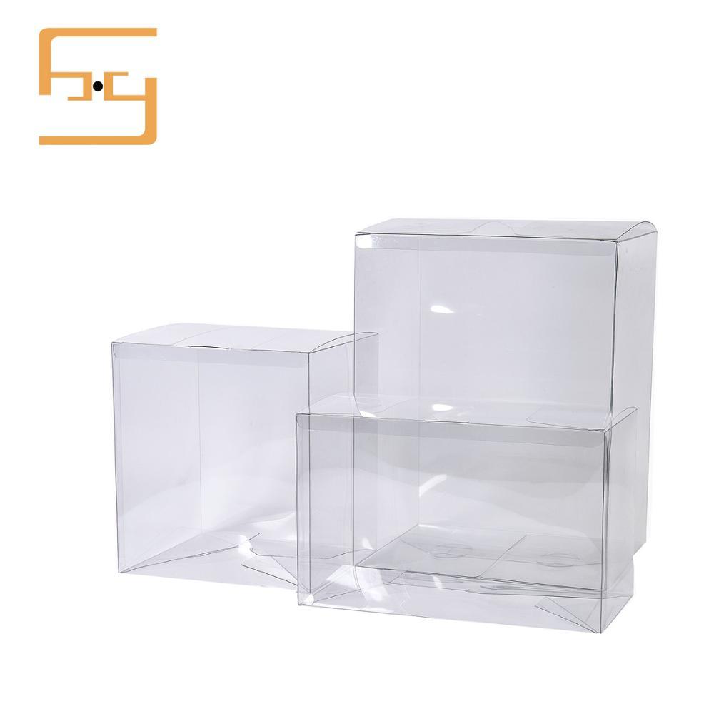 Hot Sale Transparent Printed Folding Plastic PVC Box Packaging Square Plastic Cosmetic Box Packaging