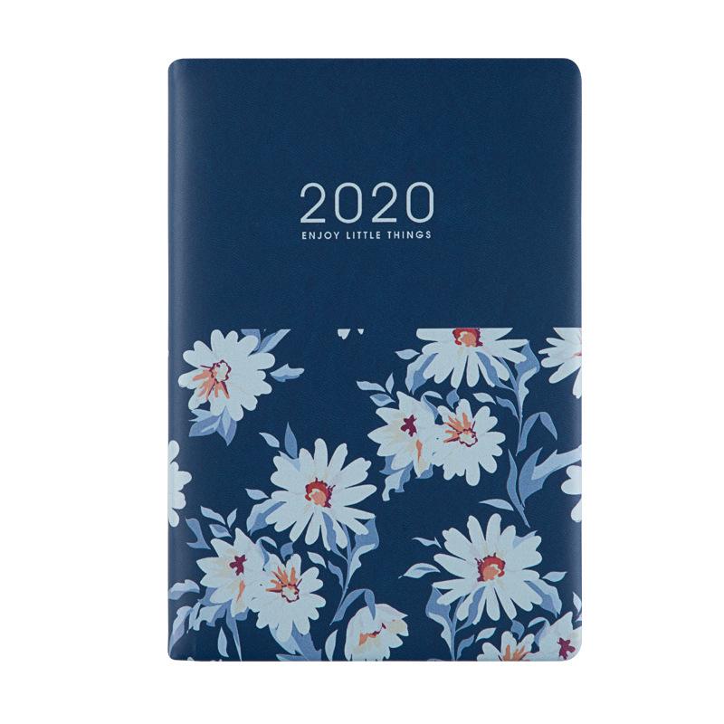 Agenda 2020 A5 планировщик кожа Kawaii планировщик журнал органайзера Еженедельный ежемесячный школьный планировщик 2020,1-2020,12 D40(Китай)