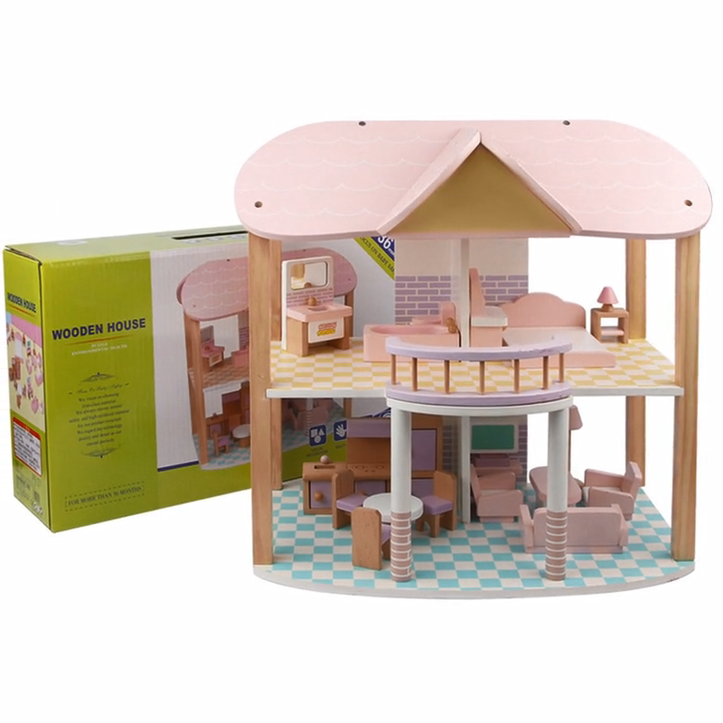 2020 New Princess Wooden Villa Furniture Toys DIY Play House Wisdom Assembly House Toys For Kids
