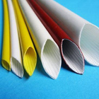 insulation glass fiber sleeving silicone fiberglass pyrojacket fire sleeve withstand voltage plastic fiberglass braided tube