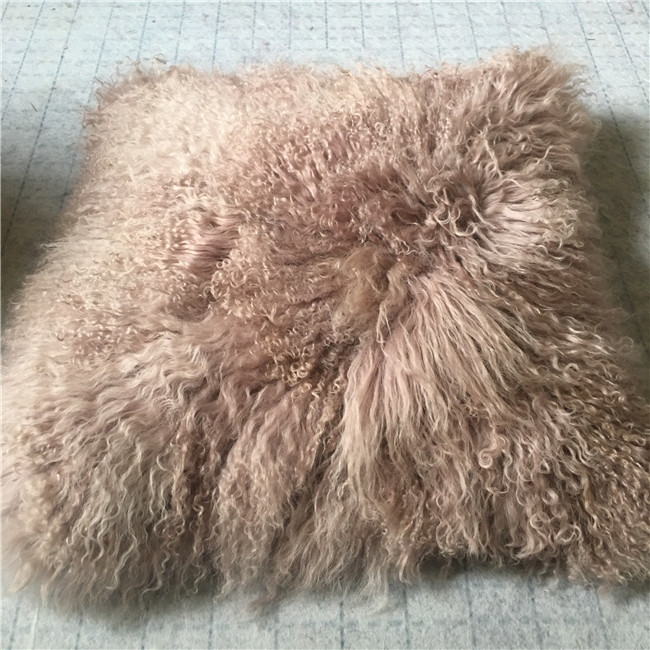 Hot sale long haired sheepskin pillowcase