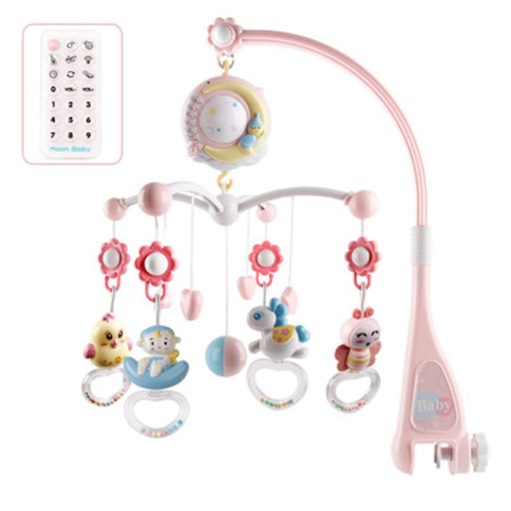 Plastic Crib Hanging Bed Bell Recordable Baby Music Mobile
