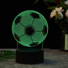 Football shape 3D illusion led night light Christmas holiday Best Gifts decorative table lamp desk light