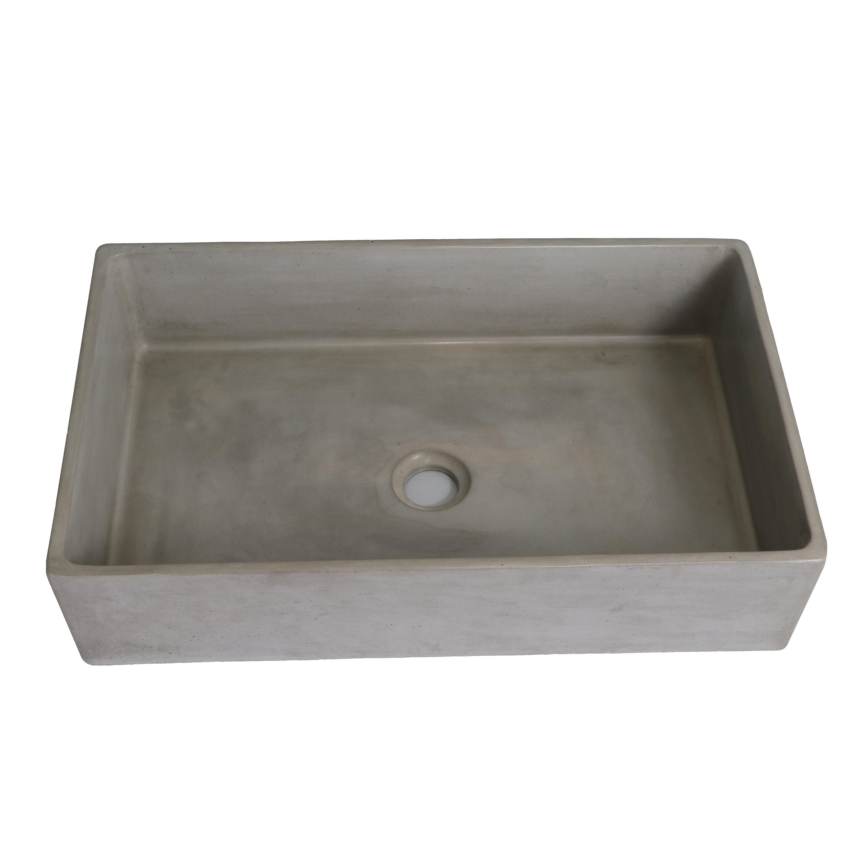 Modern Bathroom Cement Lavatory Sink Outdoor Concrete Wash Basin
