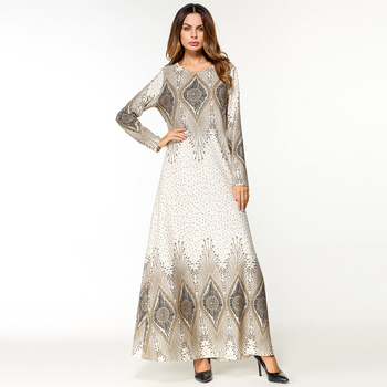 Muslim Printed Islamic Women Dress, Custom Dubai Moroccan Kaftan/Djellaba/Abaya Islamic