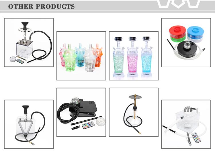 ราคาถูกขายส่งไฟ LED แบบพกพา Hookah Shisha ถ้วยสำหรับรถ Chicha Travel สูบบุหรี่ Shisha CUSTOM Hookah โรงงาน sheesha