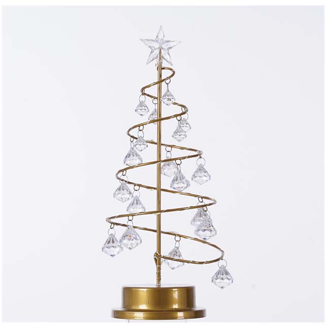 Chuse Modern simple Crystal Christmas tree led nightlight five-pointed star gift small table lamp for home decor