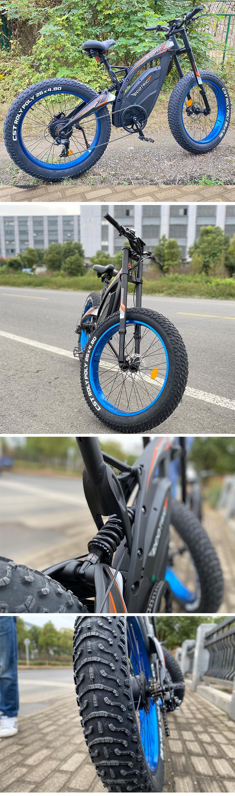 Super power 45 km e bike  high speed 48v 1000w 1500w ebike full suspension fat bike electric bicycle with high quality