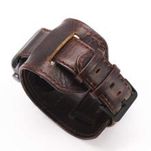Ремешок для часов Apple watch 42 мм, сменный Браслет из натуральной кожи 44 мм с защитной металлической застежкой для iwatch 5 Sport Edition коричневый(Китай)