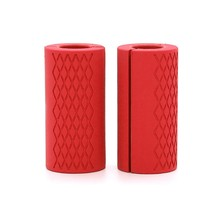 1 пара штанги ручки для гантелей толстые Нескользящие ручки силиконовая резина для выдвижных гантелей толстые ручки для штанги(China)