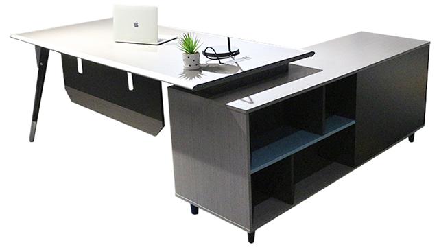 Mới nhất Thiết Kế Chất Lượng Cao L hình văn phòng hiện đại đồ nội thất mdf bằng gỗ điều hành quản lý bàn bán