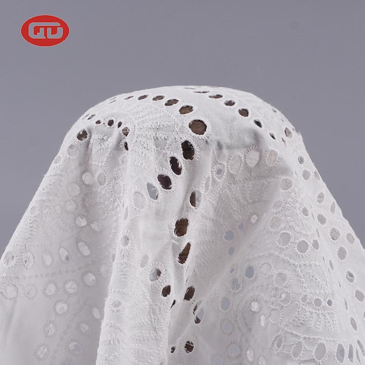 חדש סגנון קלאסי חור סרוג לבן קיץ שמלה רקום תחרה
