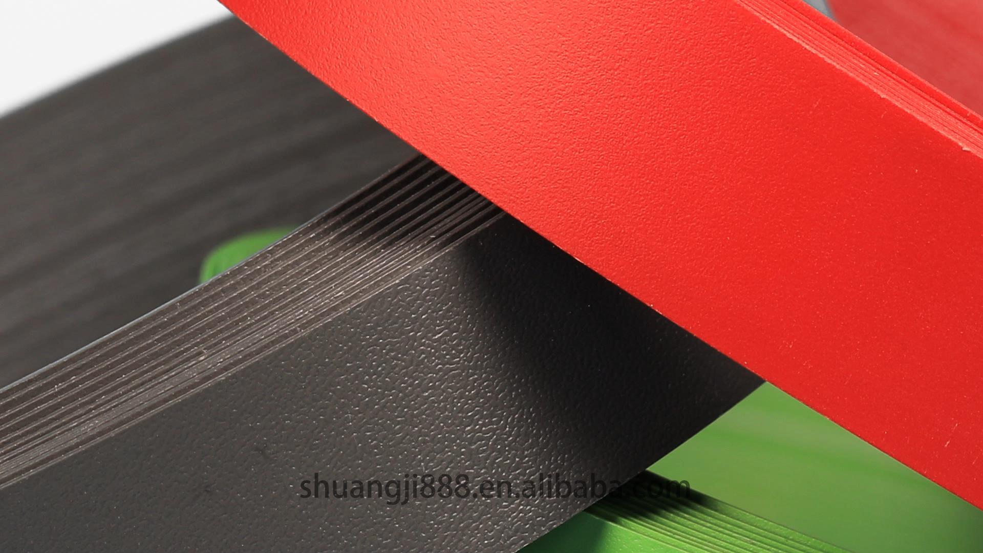 Pvc borda da borda do armário/cozinha aplicação de orlas de PVC tiras/todos os tipos de aplicação de orlas