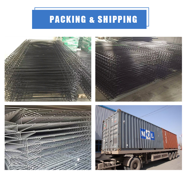 Roll Top Triangle Bending BRC Welded Wire Mesh Fence