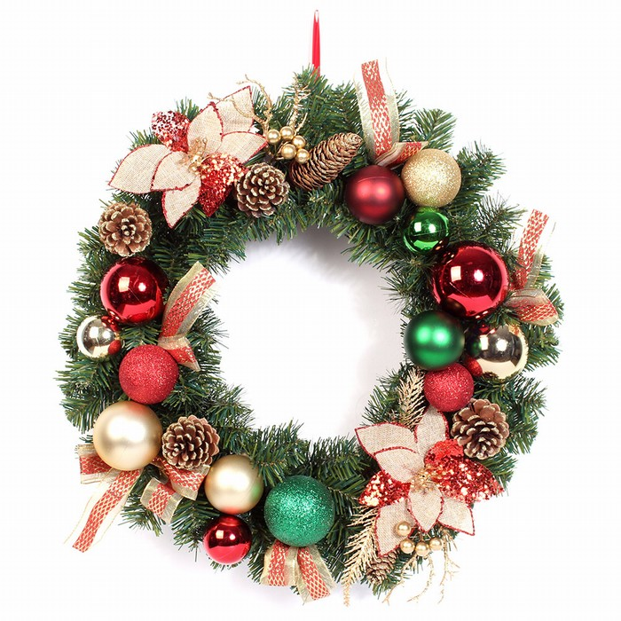 OEM design Custom Christmas wreath garland for Holiday decoration
