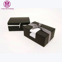 Latest design eco friendly pink luxury large custom logo print black necklace pillow jewelry set gift packaging paper box sets