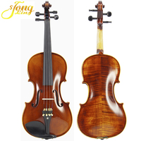 Wholesale Flamed Stradivari Violin High-quality Solidwood Violin Professional