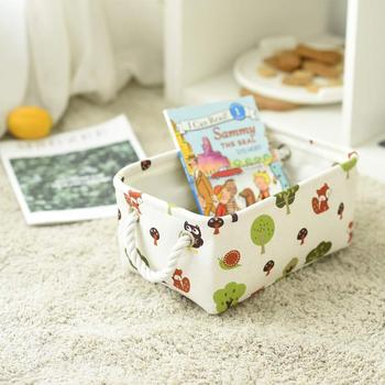 Small Fabric Storage Basket for Gifts Empty,Nice and Sturdy Canvas Storage Organizing Baskets with Baby Boy Gifts 12 x 8 x 5 inc