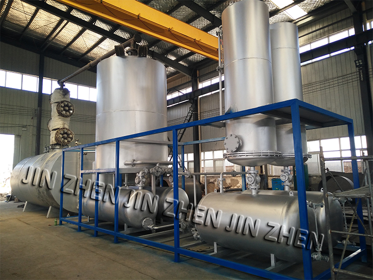 30T continuous type waste motor oil distillation to diesel oil plant for sale