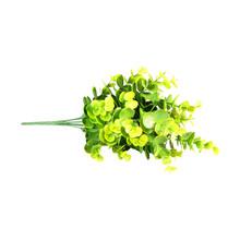 33 см искусственное растение для цветочного декора маленький Эвкалиптовый лист имитация цветочного растения настенный искусственный цвето...(Китай)