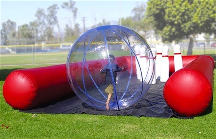 Outdoor Sport Game Inflatable 10 pin Bowling Alley,Inflatable Bowling Shooting Sports For Sale