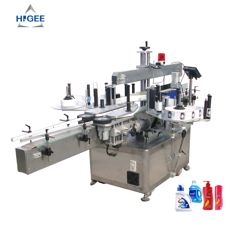 Automatic double side labeling machine,square bottle labeling machine,automatic labeler application front and back side labeling