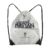 white outdoor sport gym gift waterproof drawstring bag backpack