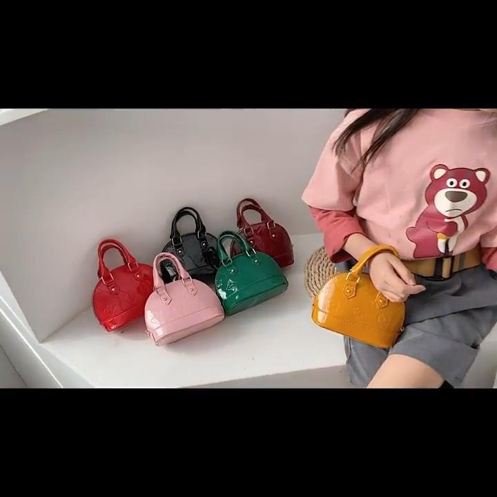 De moda de los niños pequeños bolsos para las niñas de cuero de la pu de moda Bolso Barato de marca bolsos de hombro mini monederos y bolsos de las mujeres