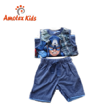Baby boys clothing cotton Pajama set infant & toddler apparel vest and shorts set