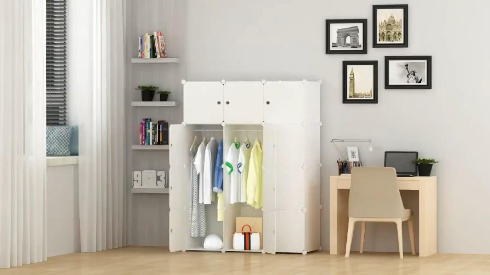 ตู้เสื้อผ้าพลาสติกแบบ Diy,ตู้เสื้อผ้าทรงลูกบาศก์10ชิ้นสำหรับใส่เสื้อผ้า