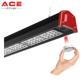 Warehouse Workshop Indoor Sports Stadium 34000lm 200w LED Linear High Bay Light Fixture
