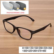 Квадратные фотохромные очки для чтения женские пресбиопические очки с прозрачными линзами оптические очки с диоптрий uv400 FML(Китай)