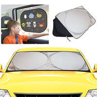 Front folding car cover sunshade