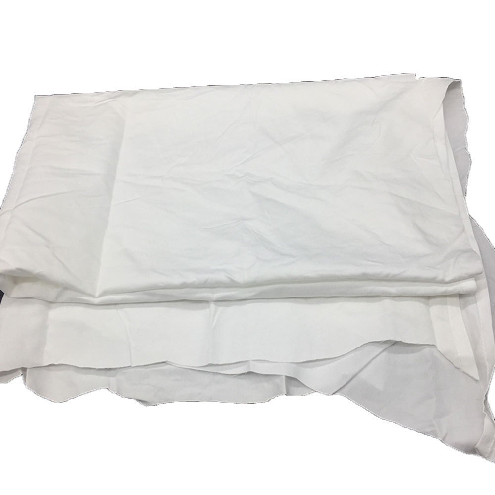 Wholesale white used hotel textile bed sheet cotton waste rags