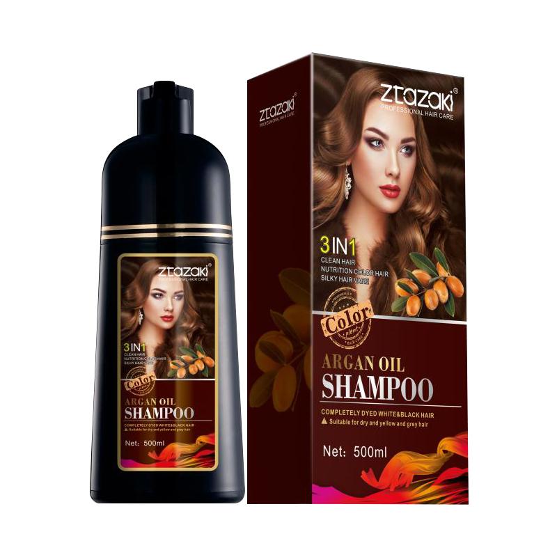 Ztazaki Grey Hair Treatment Arganöl Farbstoff Shampoo Fast Dye Hair Brown in 5 Minuten Heißer Verkauf in Thailand