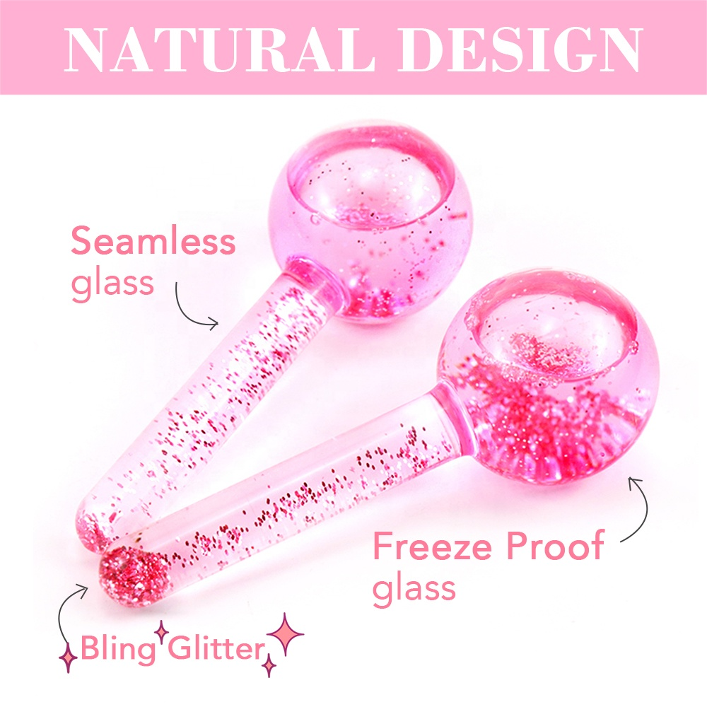 Hot Selling Wholesale Factory Wave Massage Ball Summer Cooling Facial Blue Pink Ice Globes