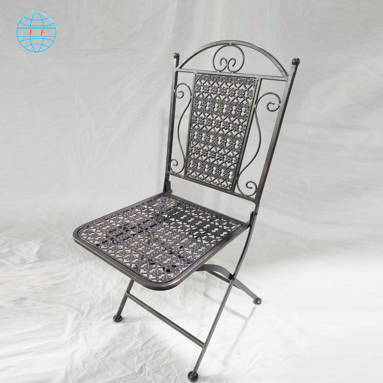 Beautiful outdoor furniture Garden chair table folding outdoor metal table and chairs