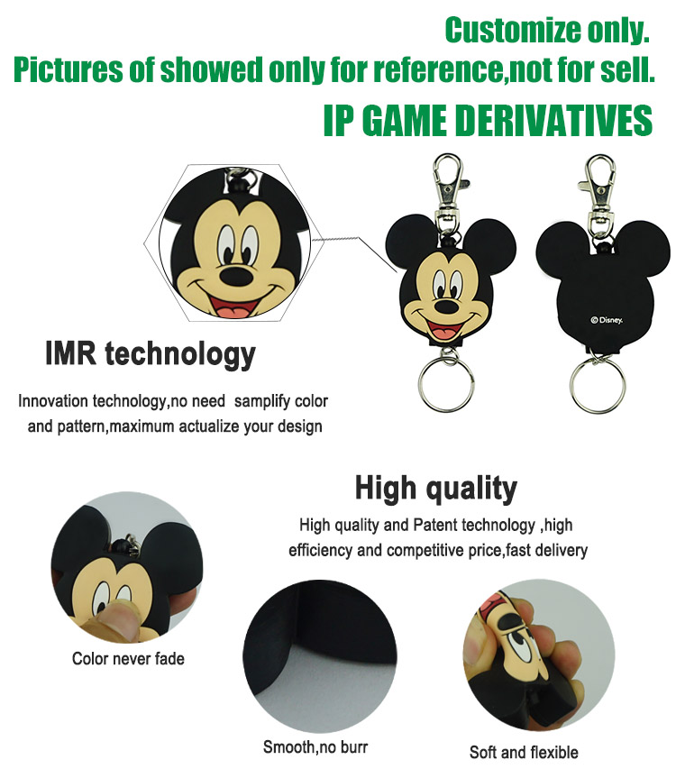 FAMA social audit factory promotional gift silicone key chain custom printing keychain for girls