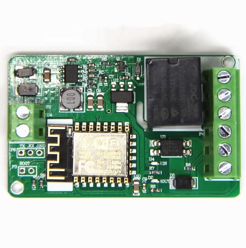 ESP8266 Relay Module 10A 220V Network Relay WIFI Module Input DC 7V~30V 4 Layer Board Automatic Protection