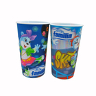 Custom Print Logo Cheap Reusable Opaque Hard PP 16oz/12 oz Drinking Water/Coffee/Milk Tea Juice Round Bottom Plastic Cup