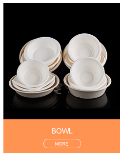 Bagasse Pulp Serving Bowl Set Disposable Paper Salad Bowl