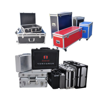 Portable equipment aluminum High Quality Cable tool hard empty case ,Plywood Flight case For Placing Music Instrument tool