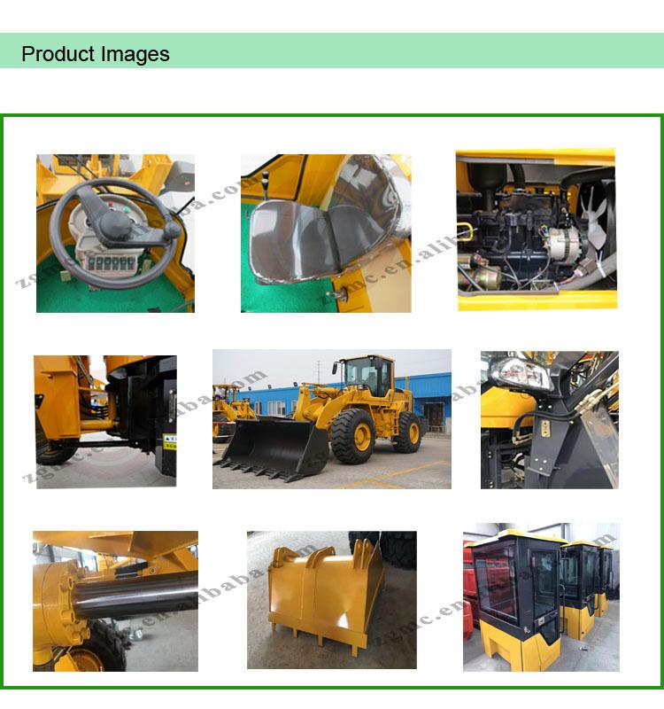 ขนาดเล็กล้อ loader ในสวนรถแทรกเตอร์ที่มี front end loader