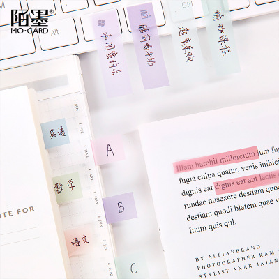 Sulfuric acid paper memo pad mini Gradient Light color retro collage sticky notes sticker for student