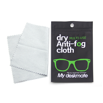 Custom Logo Anti-fog Spray Eyeglasses Cloth Lens Microfiber Cleaning Cloth for Glasses
