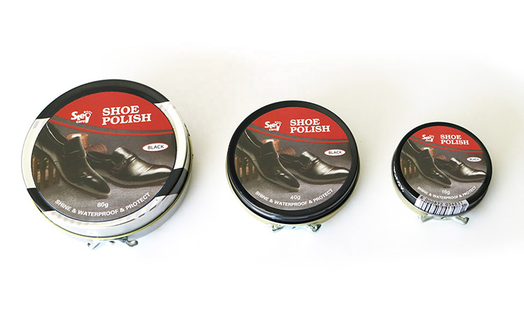 wholesale container Quick Shine Instant Wax tin polish for shoe