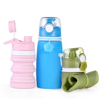 New Ideas Custom Logo Collapsible Eco Friendly Led Smart  Water Bottle Wholesale